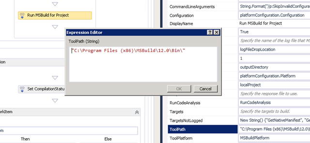 Update MSBuild Toolpath in TFS build process template | Into