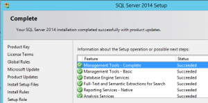 SQL2014-InstallationResult