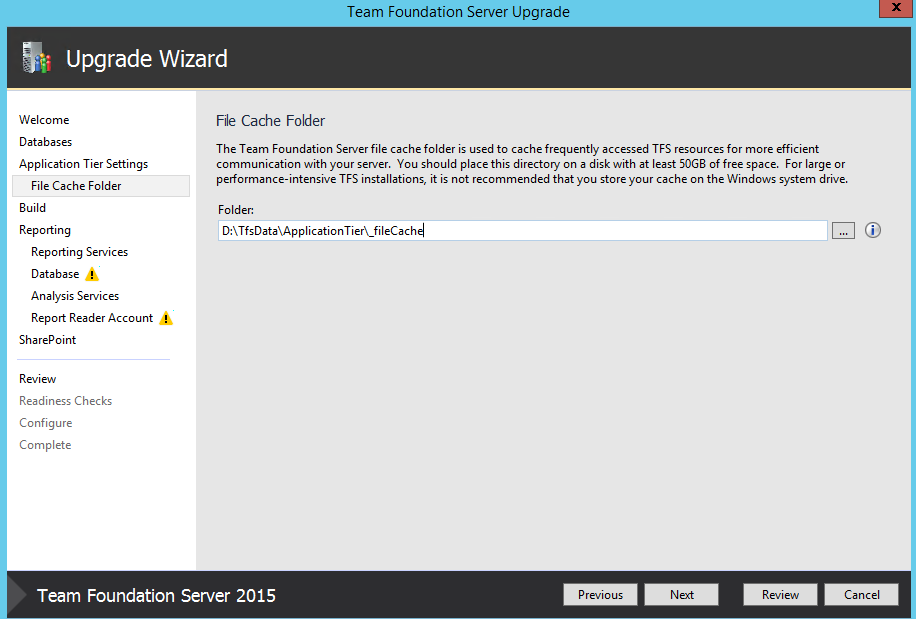 Upgrading TFS 2010 SP1 to TFS 2015 RC2 | Into ALM with TFS/VSTS