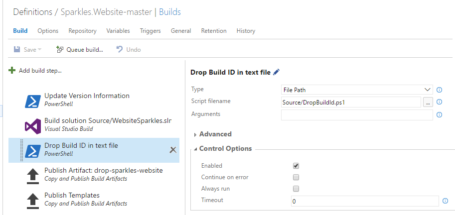 Retain VSTS Build Indefinitely – Fetch Build ID from RM